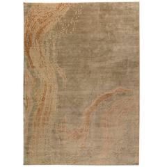 Contemporary Abstract Area Rug in Silk 10x14