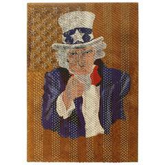 """Folk Nail Art """"Uncle Sam"""""""