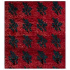 """""""Serrated Leaves"""" Rug from Central Anatolia"""