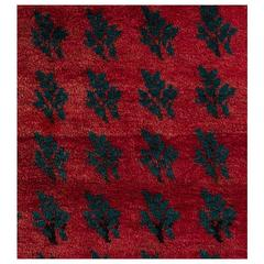 """Serrated Leaves"" Rug from Central Anatolia"
