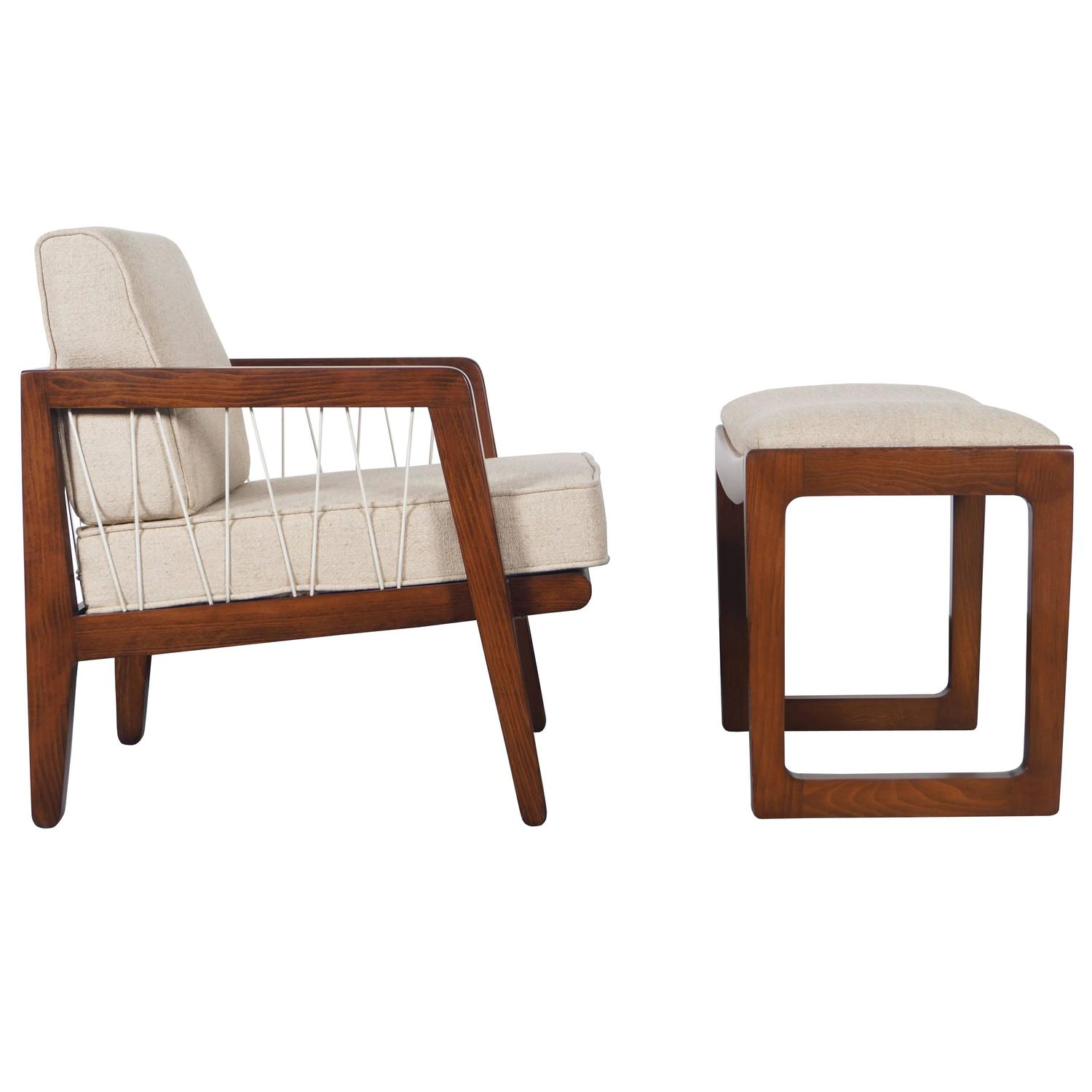 """Vintage Drexel """"Precedent"""" Lounge Chair and Ottoman by Edward"""