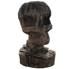 1970s Skull Sculpture
