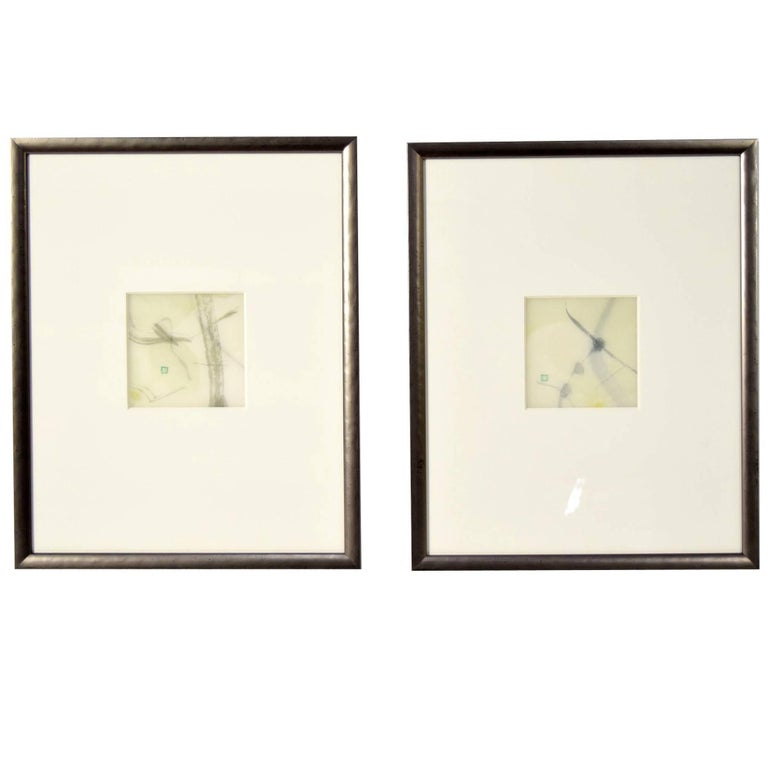 Pair of Artworks by Chaco Terada For Sale