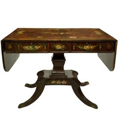 19th Century Edwards & Roberts Burr Mahogany Sofa Table