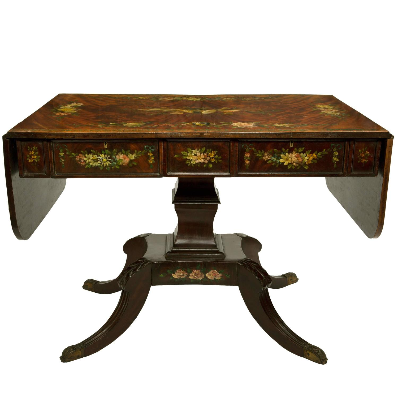 19th Century Edwards And Roberts Burr Mahogany Sofa Table