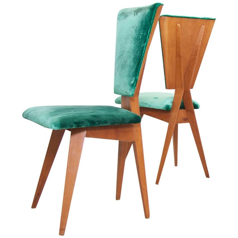 Pair of 1940s Italian Side Chairs 1