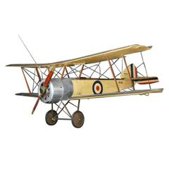 1950s Hand-Built WWI Sopwith Airplane Model