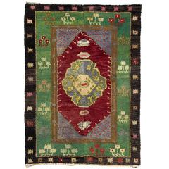One of a Kind Vintage Tulu Rug