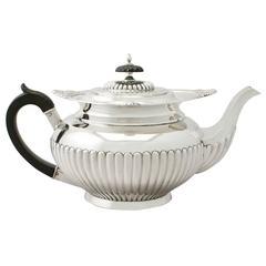 Sterling Silver Teapot, Antique Edwardian