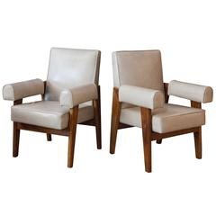 Pair of Armchairs from the High Court, Le Corbusier & Pierre Jeanneret