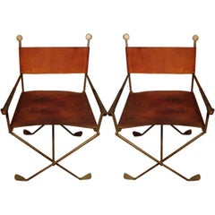 Pair of Exceedingly Unusual Chairs Constructed of Golf Clubs