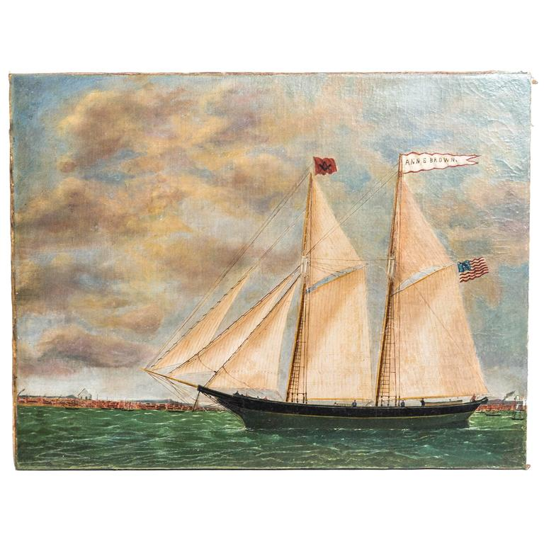 Schooner Ann S. Brown by William Hare For Sale