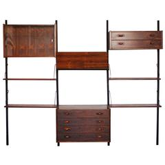 Danish Rosewood Cado Style PS Wall Unit by Peter Sorensen for Randers
