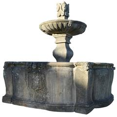 Rare Ceremonial Stone Fountain, 17th Century