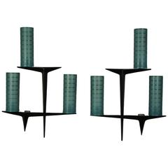 Two sconces by Arlus