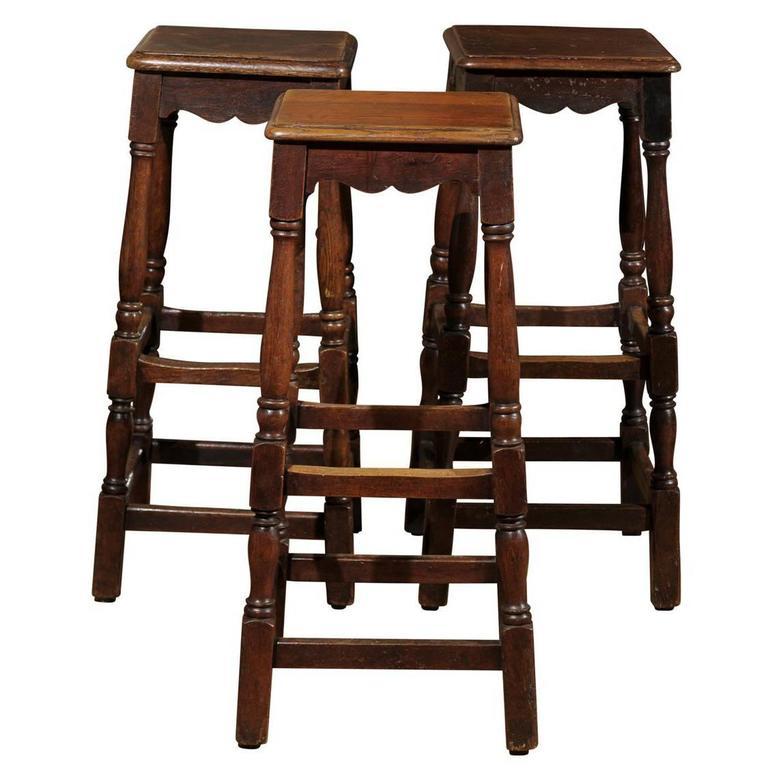 English Bar Stools 19th Century At 1stdibs