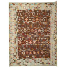 Oriental Rug Handmade Carpet Afghan Kilim Rugs, Traditional Rugs Living Room