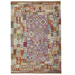 Afghan Kilim Rugs, Light Purple Rug