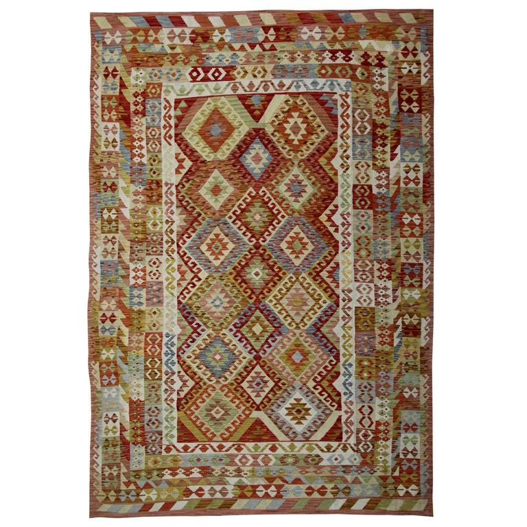 Afghan kilim rugs with traditional designs at 1stdibs for Kilim designs