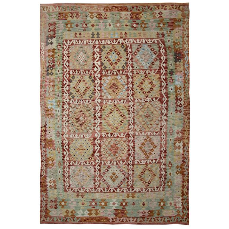 Light Green Kilim Rugs For Sale At 1stdibs
