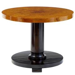 20th Century Art Deco Birch Round Coffee Table