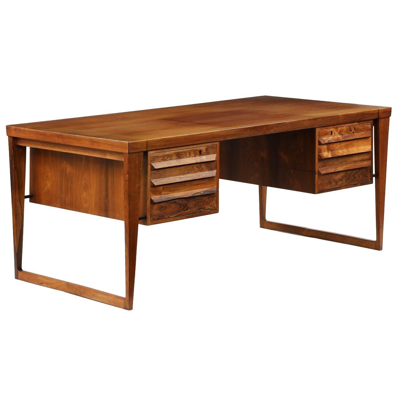 Mid Century Modern Desk: Danish Mid-Century Modern Teakwood Partners Desk At 1stdibs