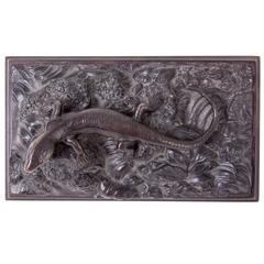 Rare Life-Size Berlin Prussian Cast Iron Paperweight Depicting a Lizard
