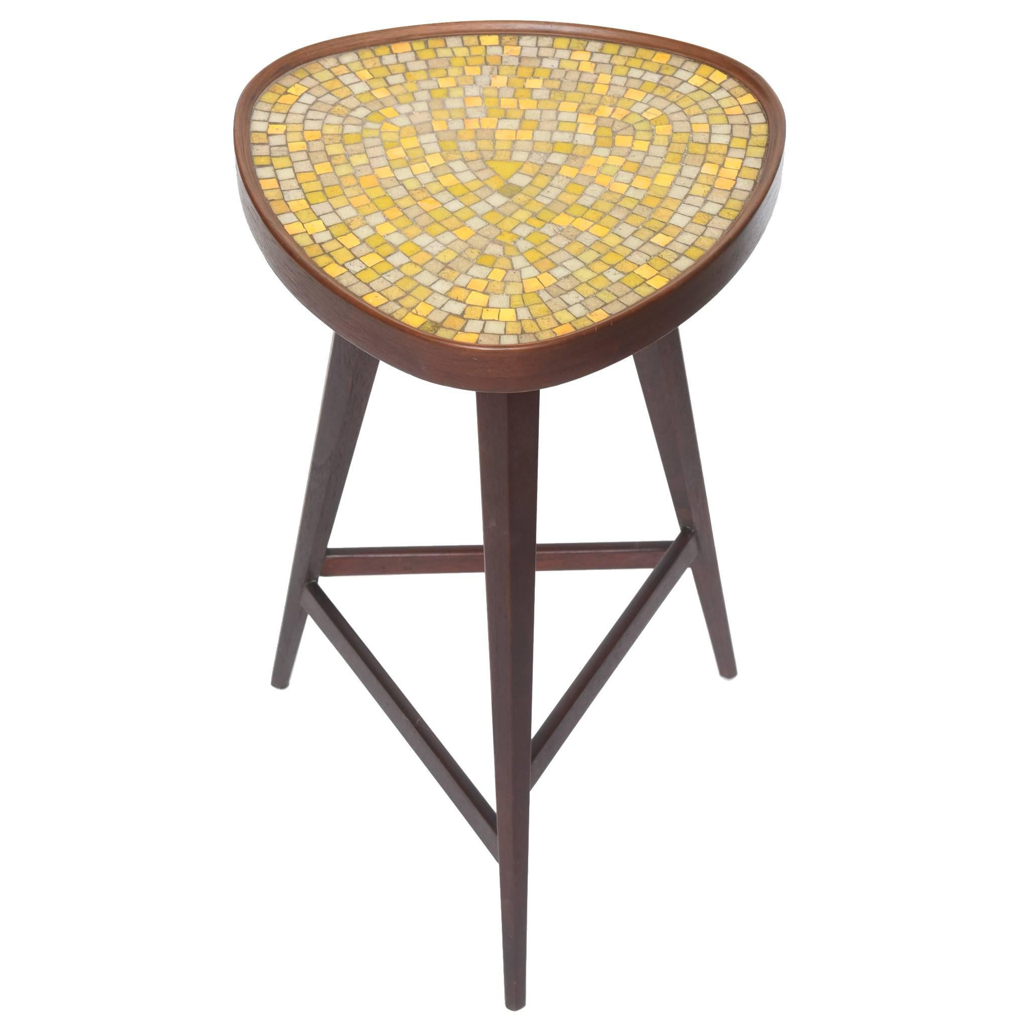 Edward Wormley Murano Glass Tile Top Table