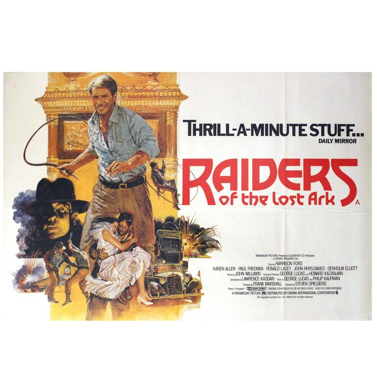 Original movie poster raiders of the lost ark harrison ford as original movie poster raiders of the lost ark harrison ford as indiana jones for sale gumiabroncs Image collections