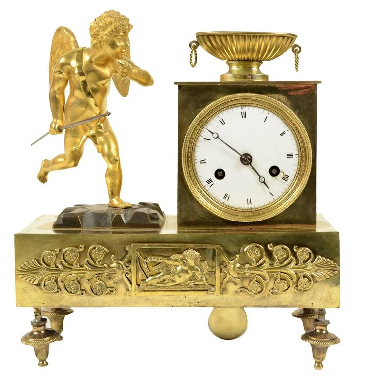 Table Clock Made In France In The First Half Of The 19th