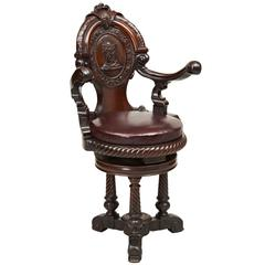 19th Century Carved Ship's Chair