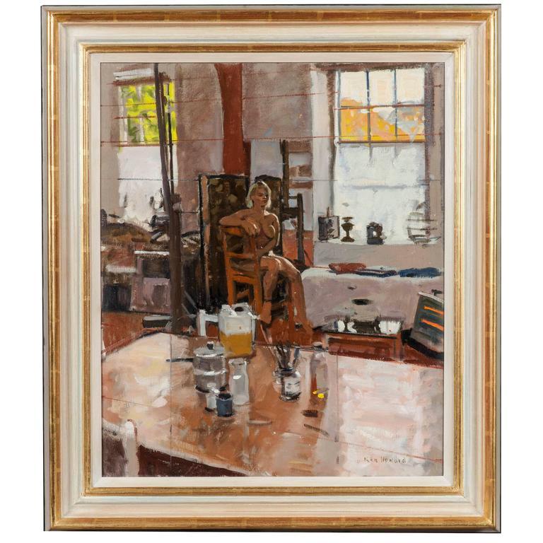 Modern Painting Of Female Nude In Artist 39 S Studio By Ken Howard For Sale