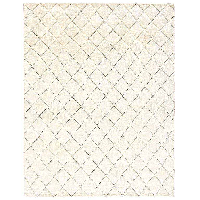 Hand Knotted Moroccan Stark Rug At 1stdibs