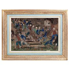French Revolution Rolled Paper Picture of the Storming of the Bastille