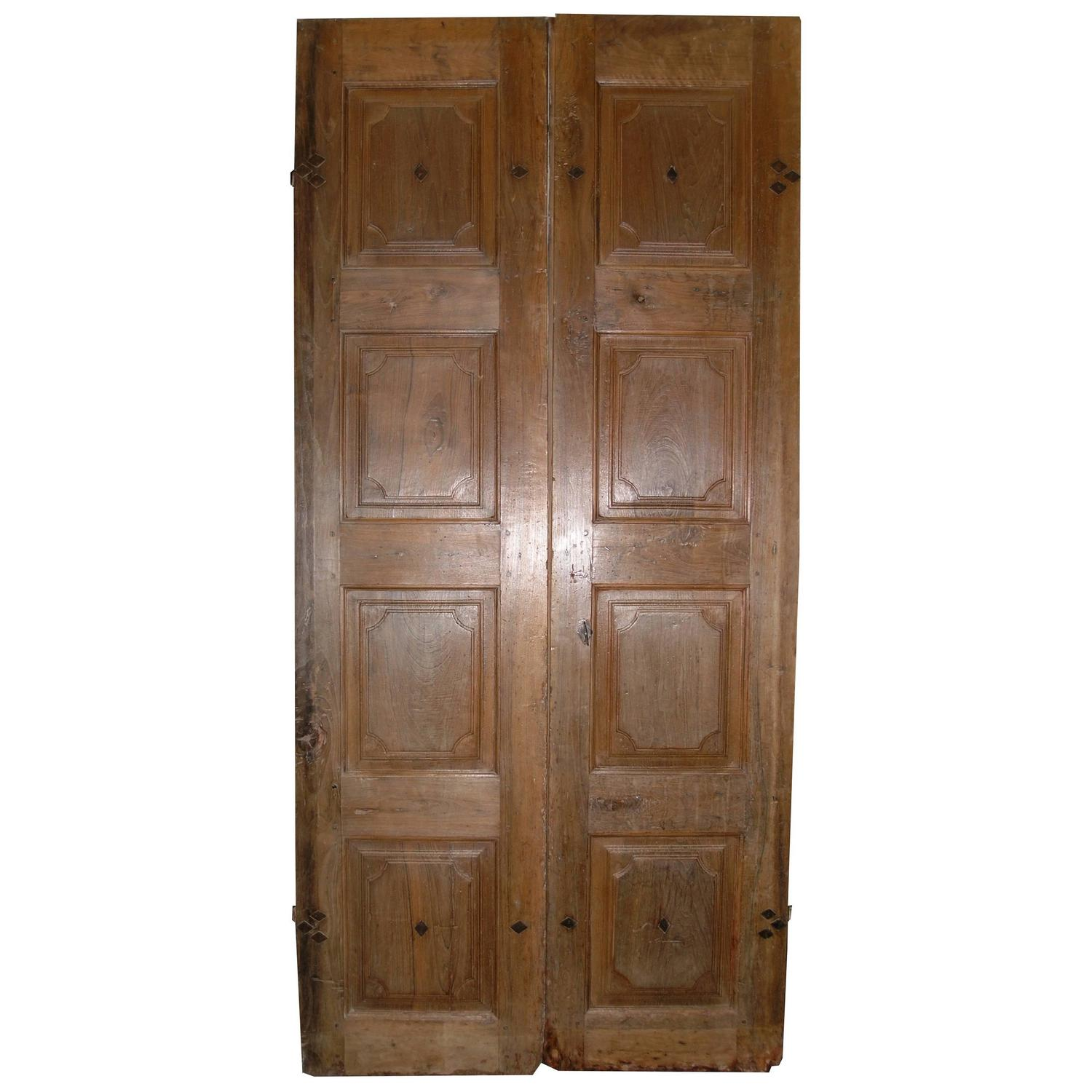 1500 #482E18 Antique Walnut Double Entry Door For Sale At 1stdibs save image Vintage Exterior Doors 41071500