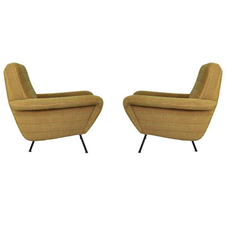 Pair of Armchairs Model 830 by Gianfranco Frattini, Cassina 1955