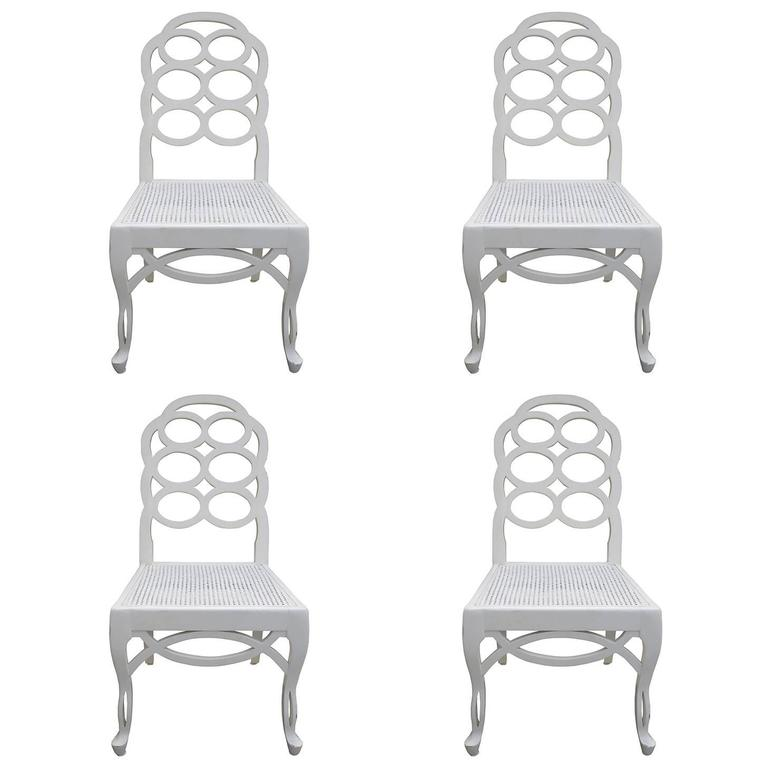 Set Of Four 20th Century Loop Chairs In The Style Of Frances Elkin 1