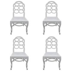 Set of Four 20th Century Loop Chairs in the Style of Frances Elkin