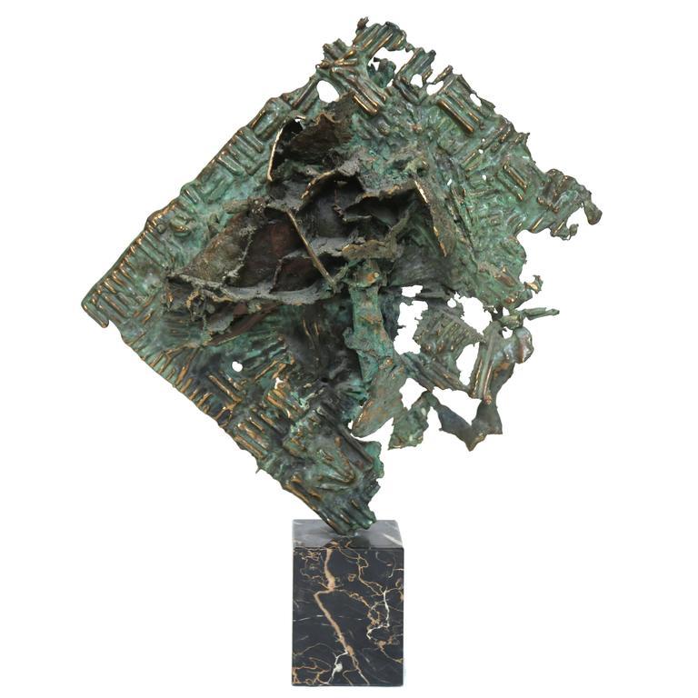 Brutalist Bronze Sculpture by William Bowie