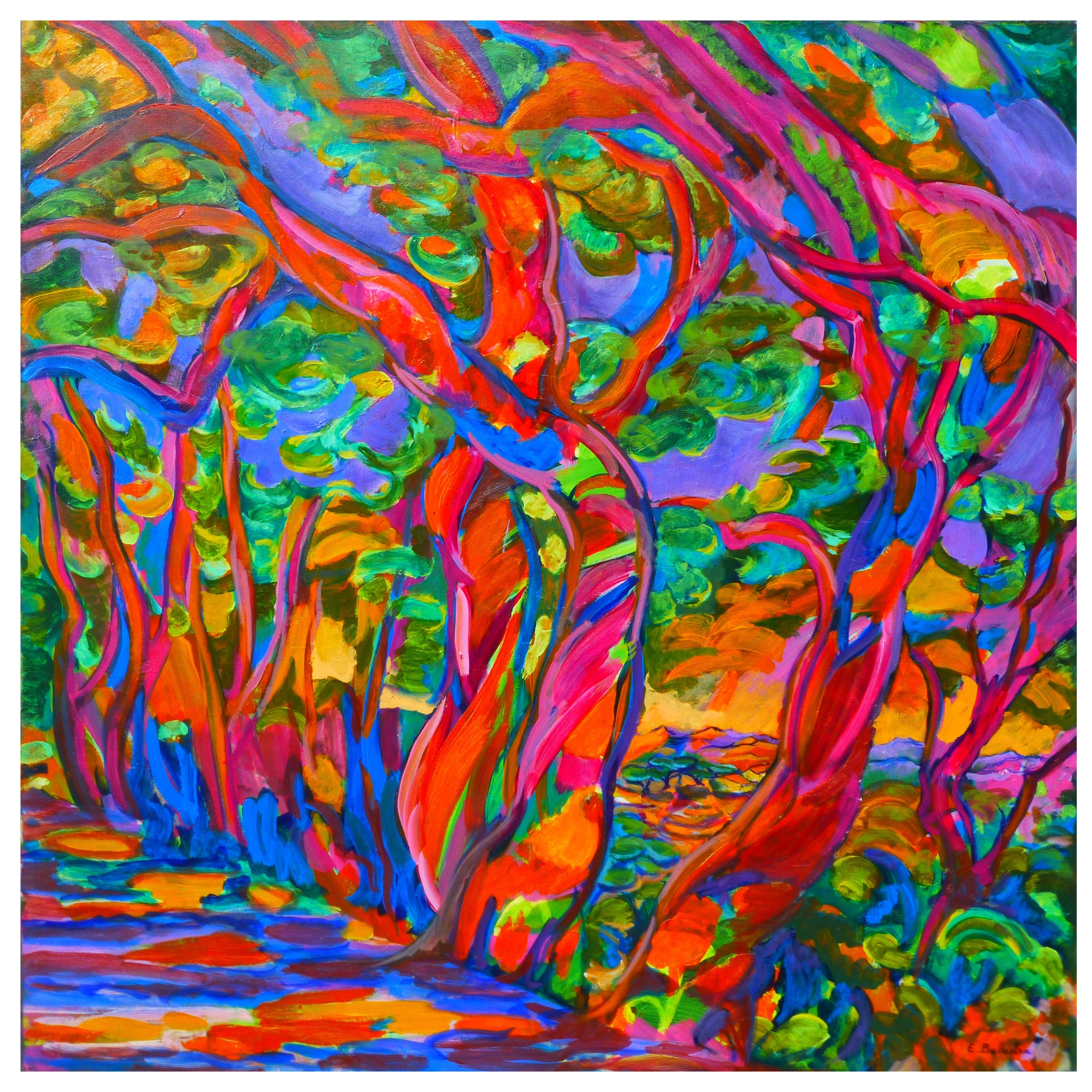 Expressionist Landscape   Oil Painting by Ballestra