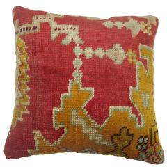 Antique Oushak Rug Pillow