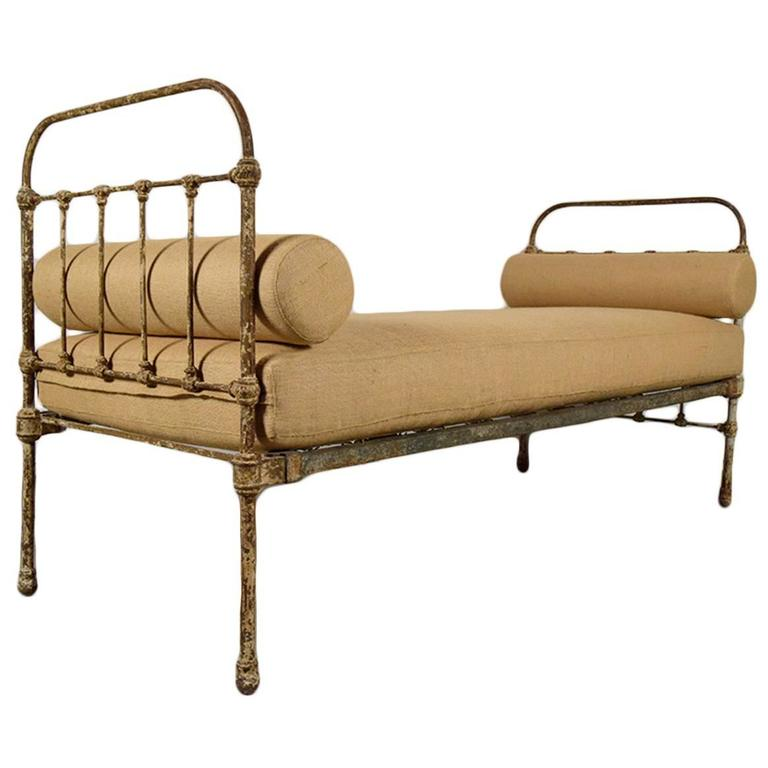 Antique French Iron Frame Daybed