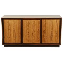 Mahogany and Bleached Rosewood Three-Door Credenza by Harvey Probber