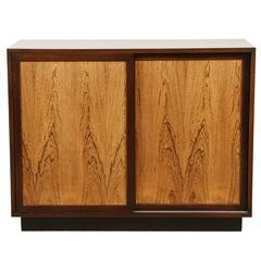 Mahogany and Bleached Rosewood Two-Door Credenza by Harvey Probber