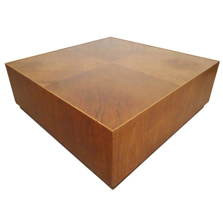 Unique square coffee table on casters for sale at 1stdibs Coffee tables with casters