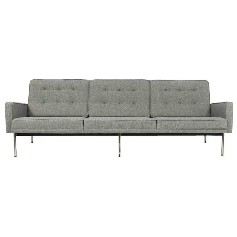 Florence knoll parallel bar lounge sofa mod 57 mid for Florence modern sectional sofa