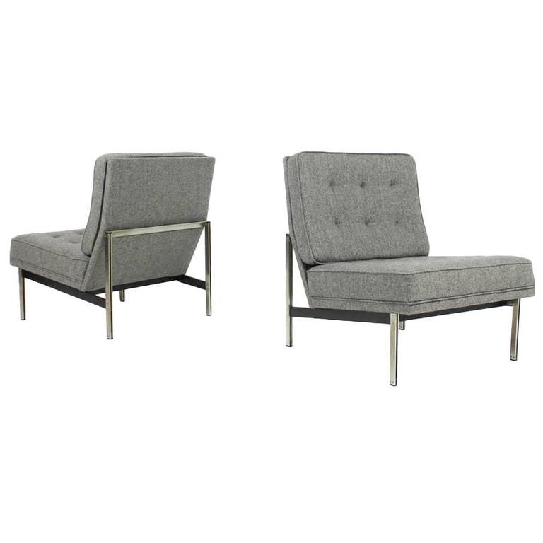 Delicieux Pair Of Florence Knoll Parallel Bar Lounge Chairs, 1959, Mid Century Modern  For