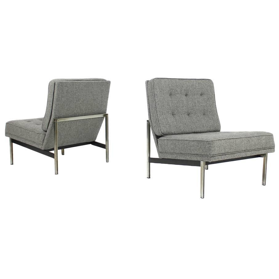 Pair of florence knoll parallel bar lounge chairs 1959 for Lounge chair kopie