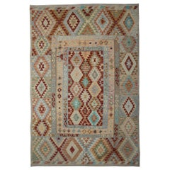 New Kilim Rugs, Traditional Oriental Rugs, Afghan Rugs, Handmade Carpet for Sale