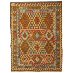 Handmade Afghan Kilim Rugs, Contemporary Rugs, Area Floor Flat-Weave Rug
